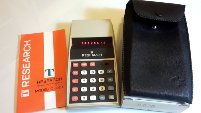 Vintage Red Leds Commodore calculator Made in USA for TISSOT RESEARCH NOS NIB