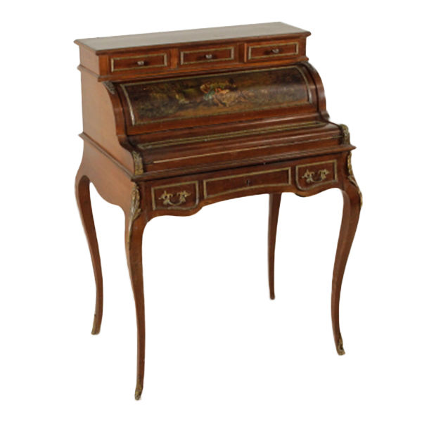 Sécretaire à abattant/Fall front Secretary Desk in solid fir and beechwood - Italy - 20th century