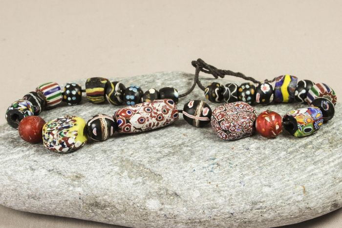 25 rare antique Venetian beads (beads for trade with Africa)