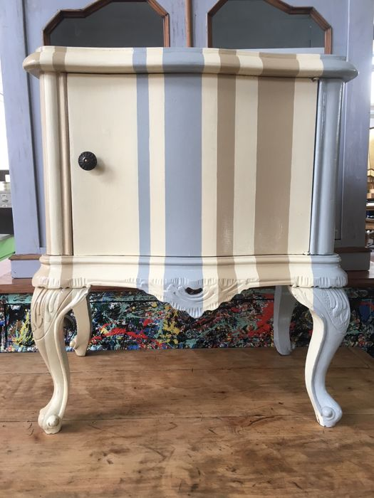 1950s bedside table - unknown designer - reinterpretation of Thomas Chippendale
