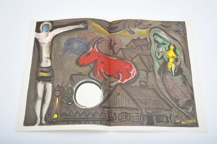 Marc Chagall - Derrière le Miroir No. 27-28. With 2 original lithographs - 1950