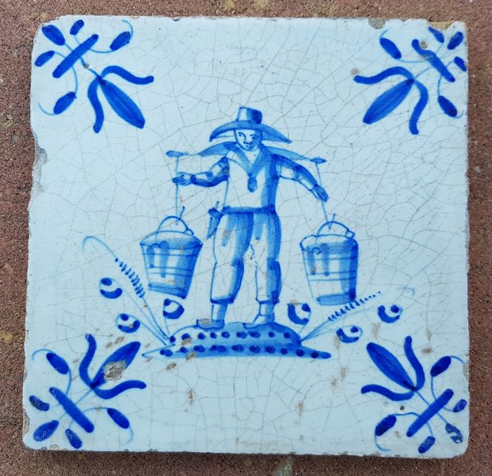 Tile with a milkman, special depiction