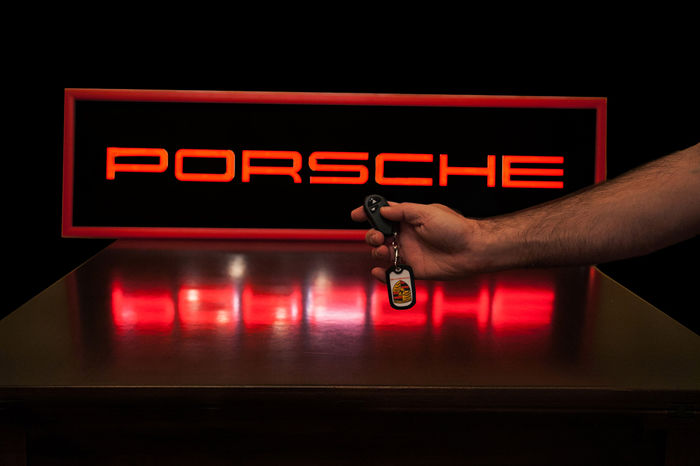 PORSCHE LED lighted panel with on/off Wireless Remote Control