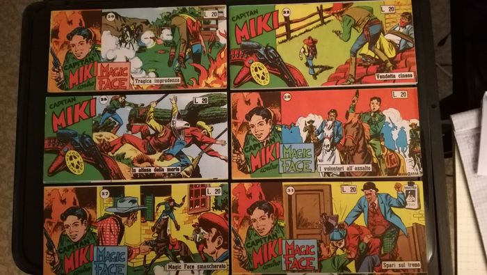 Capitan Miki s. X nn. 26/28, 31, - s. XI nn. 25, 32 - In attesa della morte.magic .smascherato.vendetta  - Stapled - (1956)