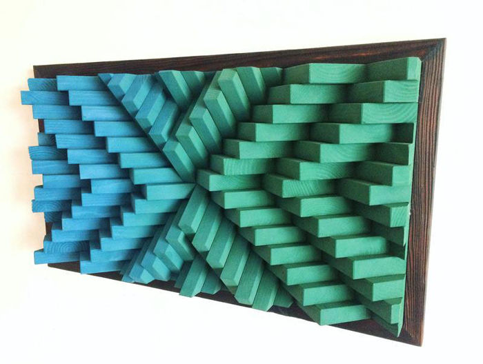"Wall decoration - art work wall panel ""3D Mosaic"""