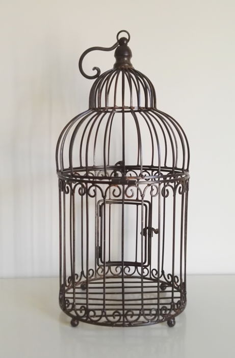 Vintage wrought iron cage - birdcage - Ca. 1980's