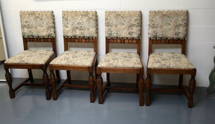 Pander - Art Deco dining room furniture: 4 chairs, 2 armchairs