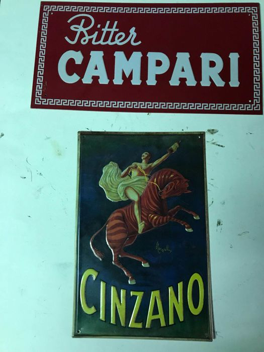 2x Advertising metal signs