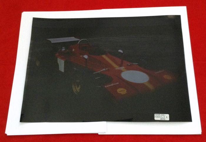 Afbeelding - rare Ferrari 312B3 F1 1973 Press Diapo Big Slide  - 1973 (1 items)
