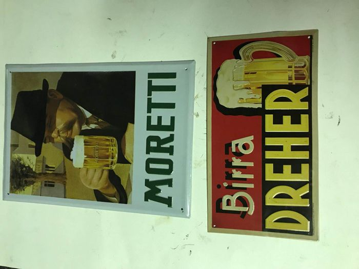 Beer advertising signs