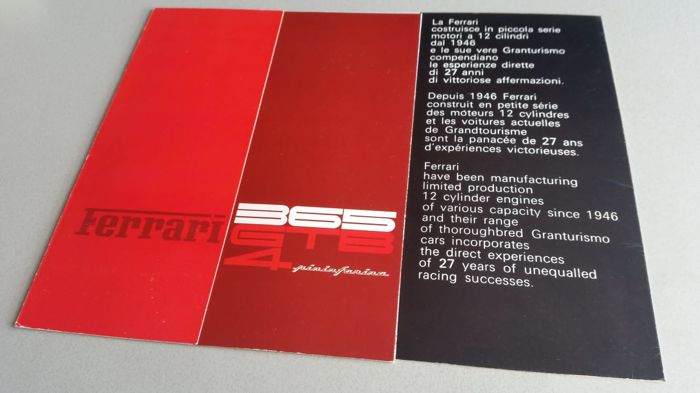 Brochures/ Catalogues - Ferrari - 1972-1972 (1 items)