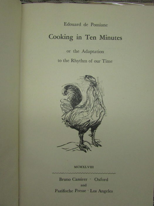 Edouard de Pomiane - Cooking in Ten Minutes - 1948
