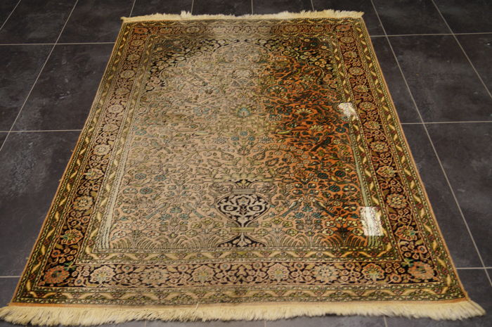 Indian Kashmir Silk approx. 170x125 cm
