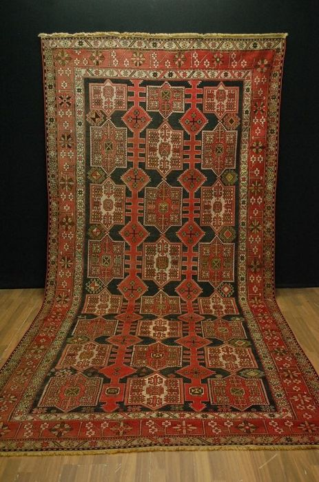 Antique Caucasian Kazak  385x185 cm