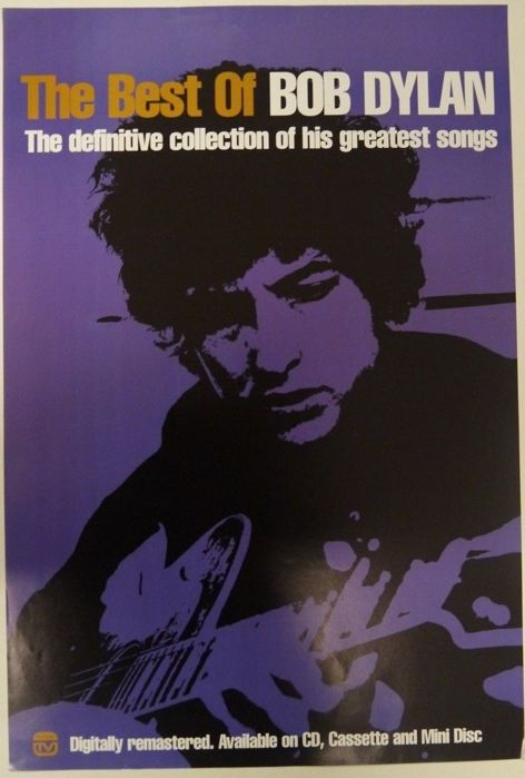 Very rare Bob Dylan - Best of Original 2005 Promo Poster