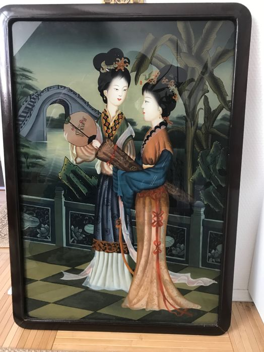 Painting on glass - China - Second half of the 20th century