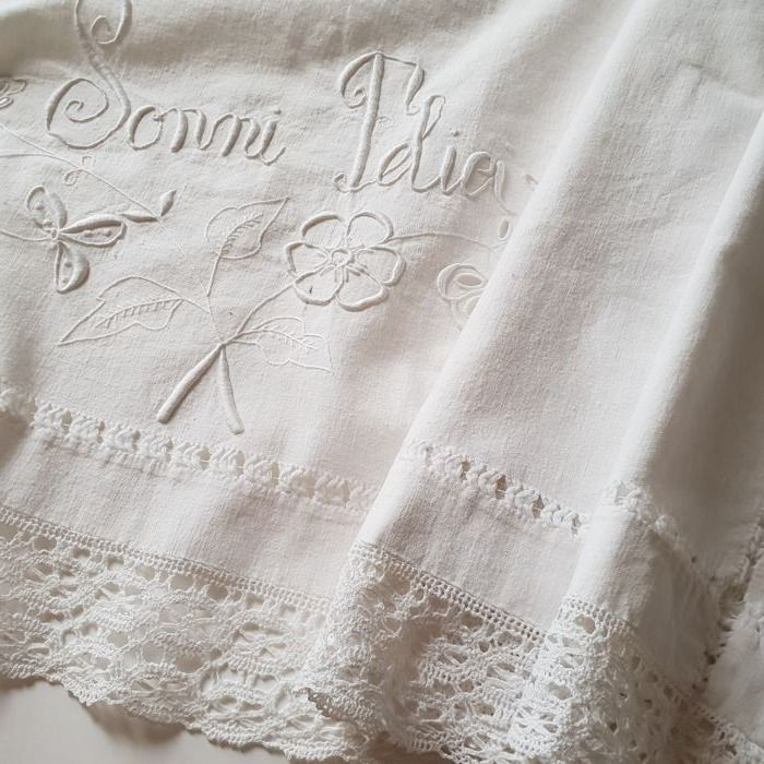 Old double bed valance woven at the loom NO RESERVE PRICE Early 1900s