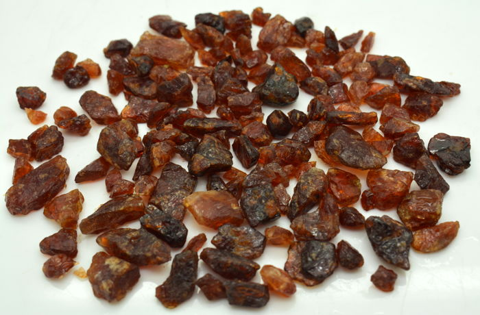 Natural Rough Hessonite Garnet Lot  Ruw - xxxxxxxxxx - 135 Grams