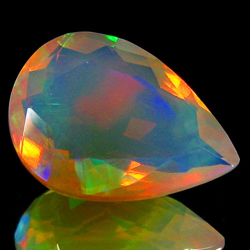 """Crystal """"Rainbow"""" Opal - White, Play of colours - 3.86 ct - No Reserve"""