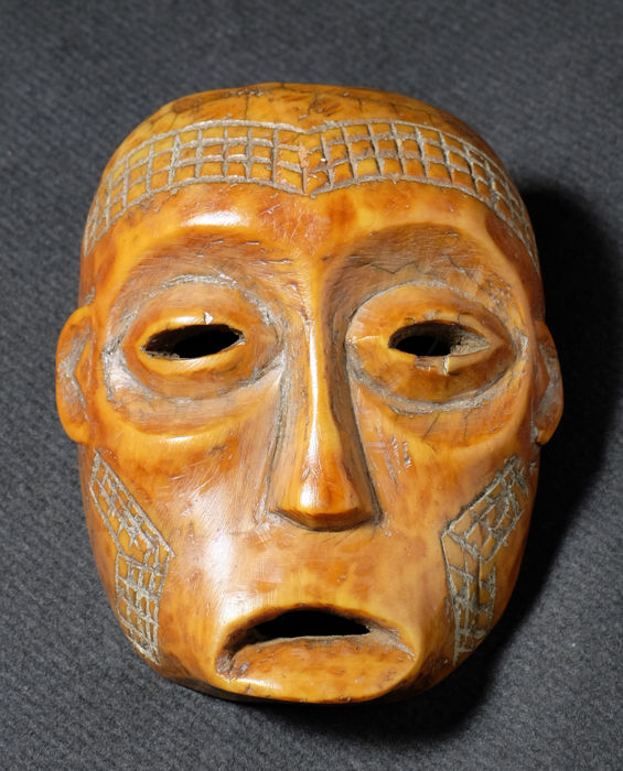 Ivory mask - LEGA - Democratic Republic of the Congo