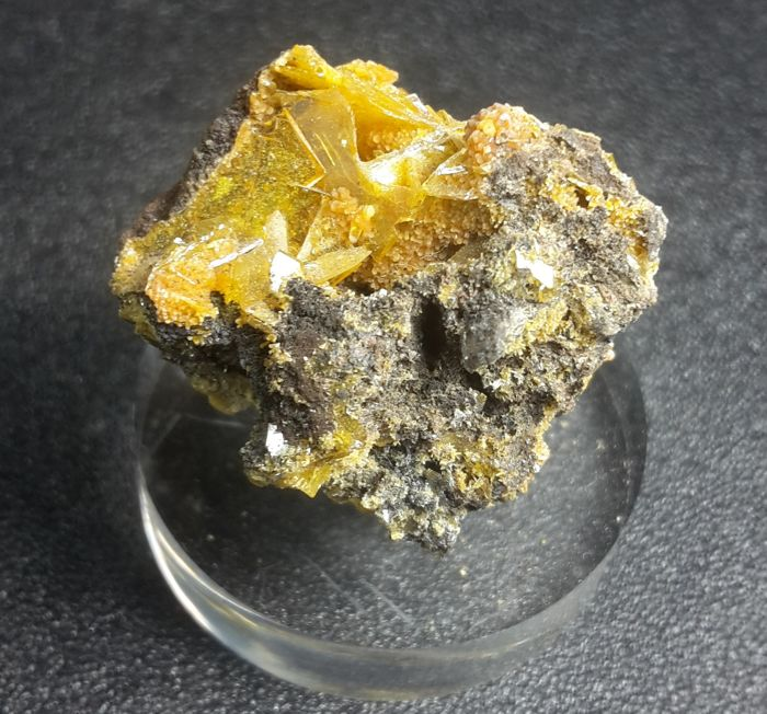Wulfenite and Mimetite Kristallen op matrix - 2.5 x 2 x 2 cm - 12 g