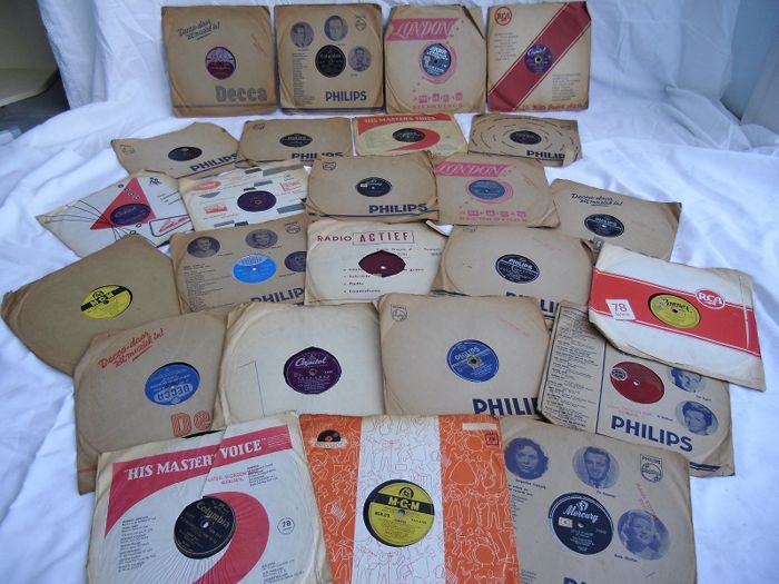 24 jukebox - boogie woogie - dixieland - jazz - rock and Roll 78 rpm gramophone records