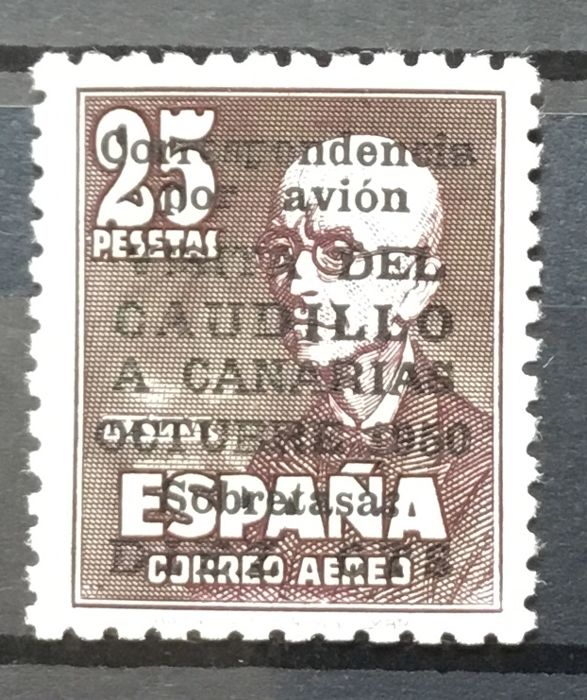 Spain 1951 - Visit of the Caudillo to the Canary Islands. Comex certificate - Edifil 1090