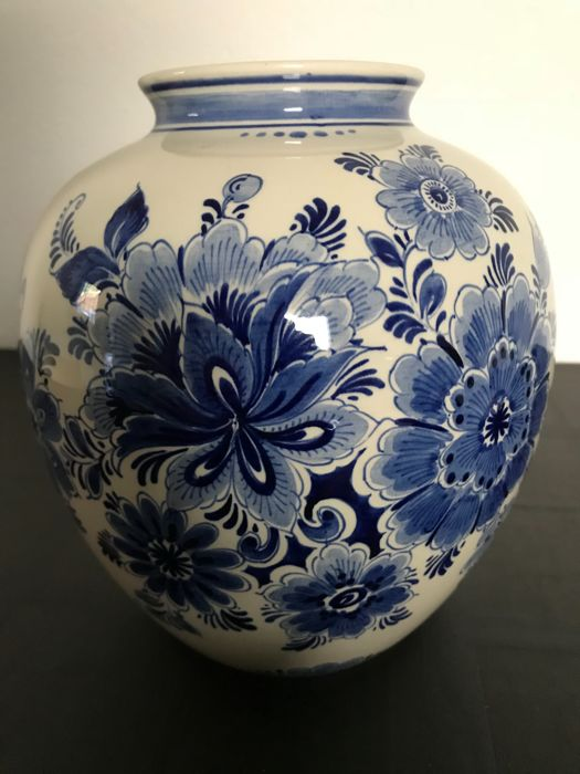 Delft Blue Hand Painted Open Vase Catawiki