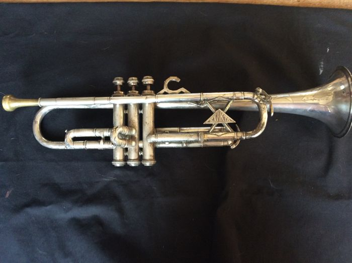 Silver plated Trumpet Exakta Germany first half 20th century
