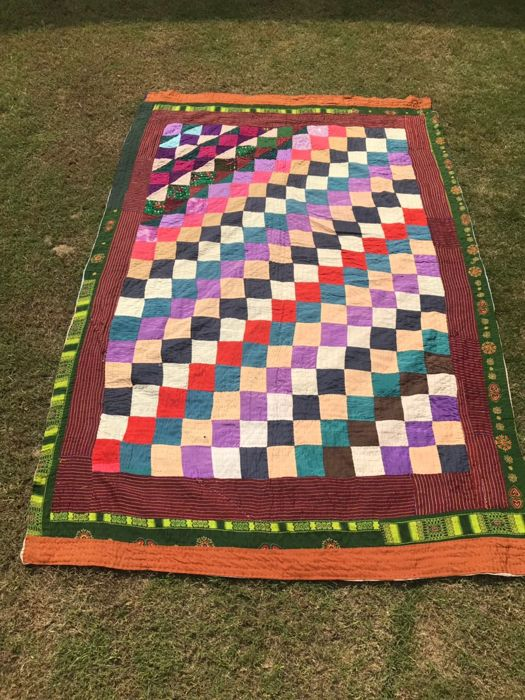 Antique Hand made Sindhi table cover 188 x 134 cm - Around 1970s