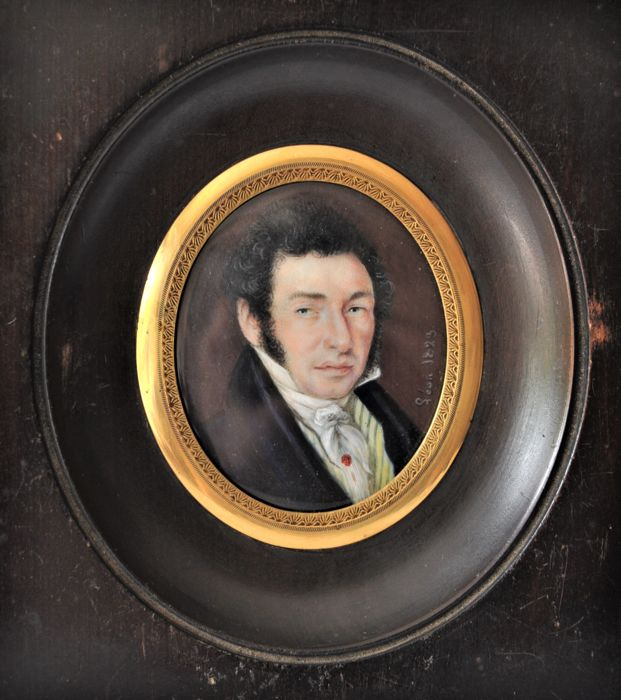 Miniature on ivory - France - 19th - signed and dated 1823