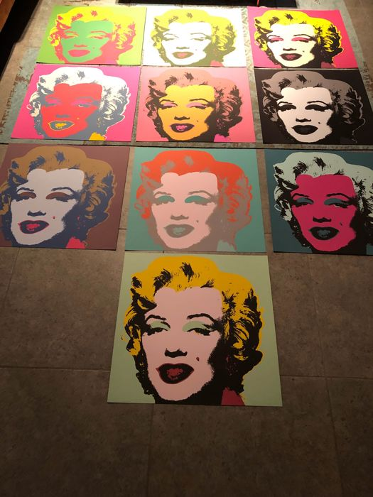 After Andy Warhol - Marylin Monroe
