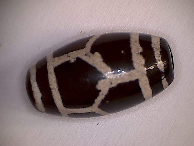 Pyu Culture dyed agate   bead  - 21 X 11 mm - (1)