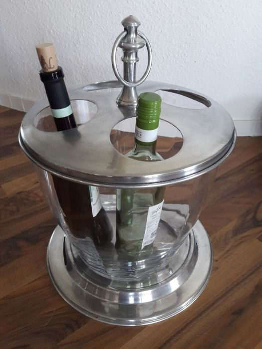 Very large (height 45 cm), decorative champagne / wine cooler for 4 bottles