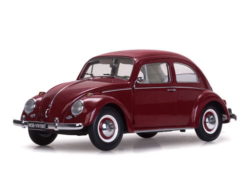 Sunstar - 1:12 - 1961 Volkswagen Beetle Saloon - Kleur Ruby Red