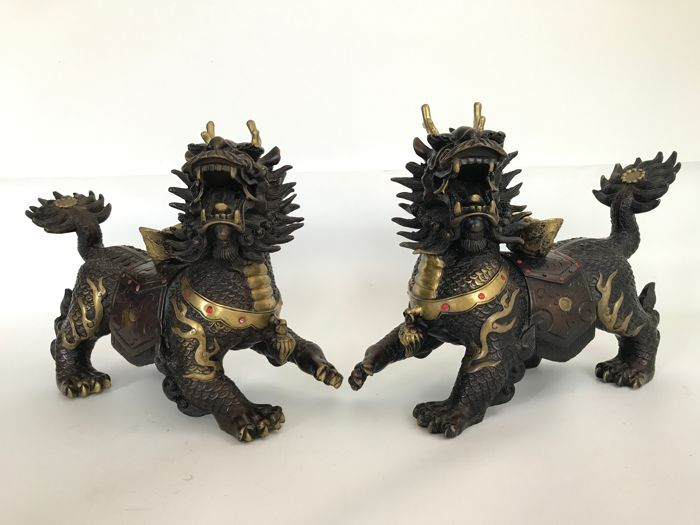 Pair of Foo Dogs - China - late 20th Century
