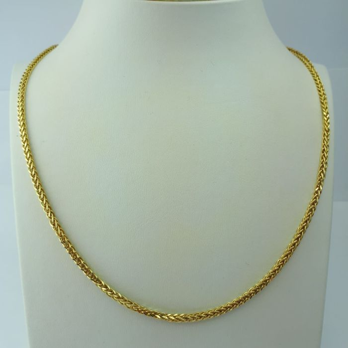 Ladie's Necklace, 14 ct Yellow Gold, chain length: 55cm