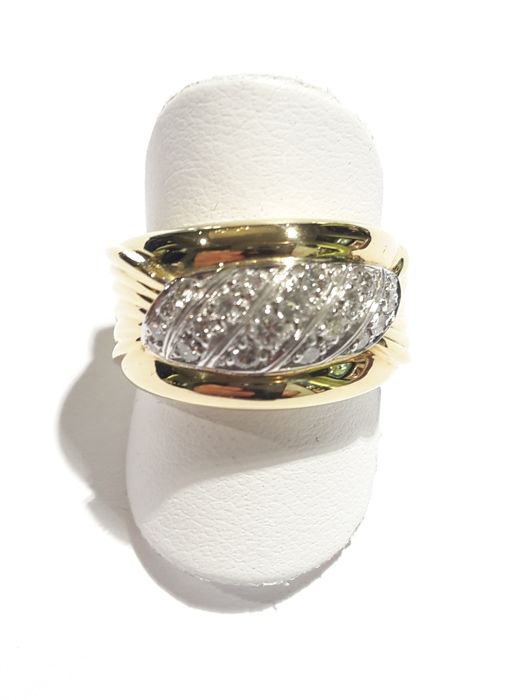 Salvini - Ring pave in gold 750/000 with diamonds of 0.40 ct