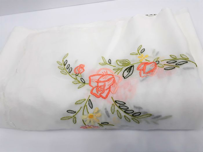 Savona, 1930 - batiste vintage double bedspread, new, very fine, hand embroidered