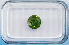 1.28 ct Fancy Deep olive-green P3