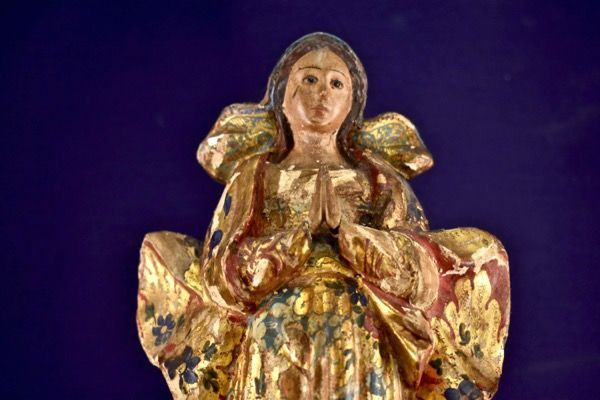Wooden sculpture of the Virgin of the Ascension - 17th - 18th century