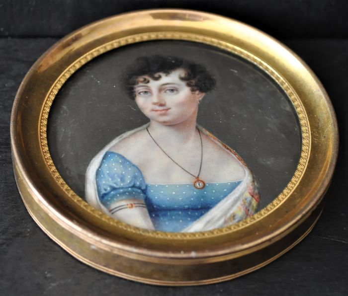 Miniature on ivory - France - early 19th - signed 'Isabey'
