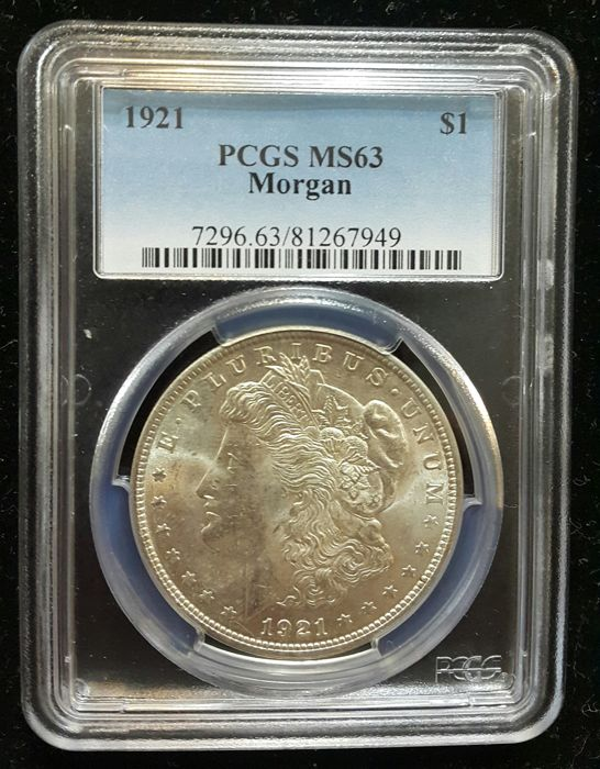United States - 1 Dollar 'Morgan' 1921 - silver