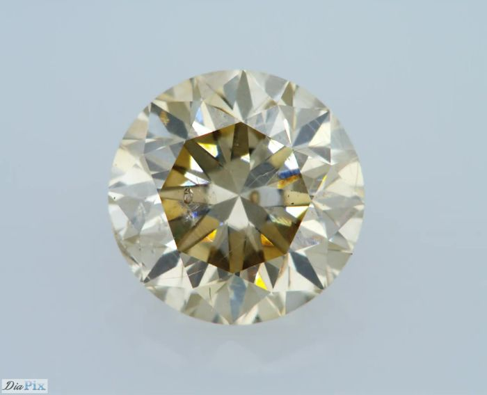 1.03 Carat Natural Fancy Champagne SI1 Round Brilliant Certified & Sealed - Very Low Reserve!