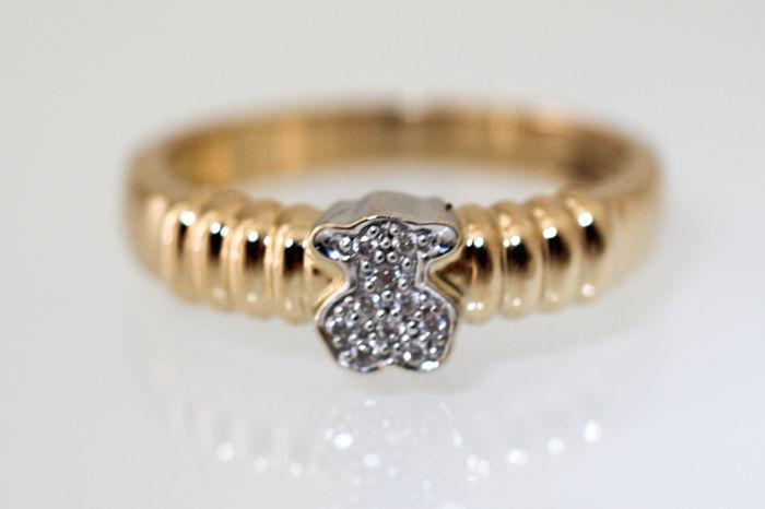 Tous - 18 kt bi-colour cocktail ring  Diamonds *No reserve price*