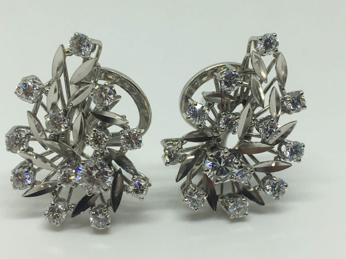 White gold 18 kt Earrings - 26 Diamonds Unique