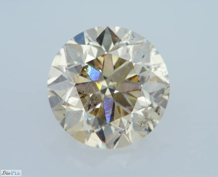 1.21 Carat Natural Fancy Champagne SI1 Round Brilliant Certified & Sealed - Very Low Reserve !