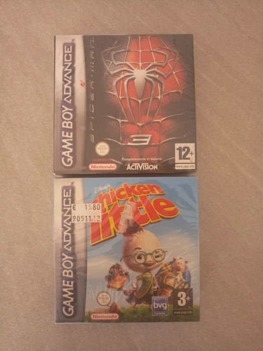2 Games for Gameboy Advance - Spiderman + Chicken Little