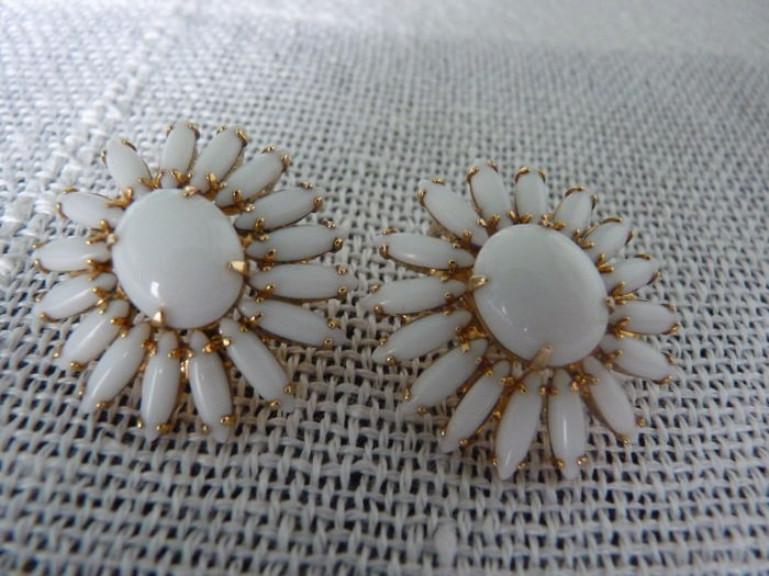 Napier copyright summertime clip on earrings,mid.1950's