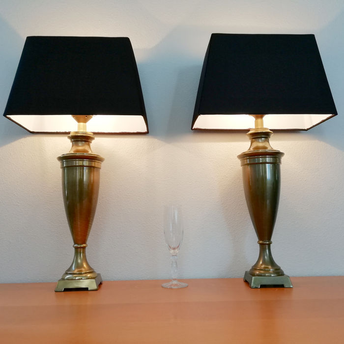 Vintage - Pair of Rare Extra Large Vase or Trophy Lamps - 2nd half 20th century